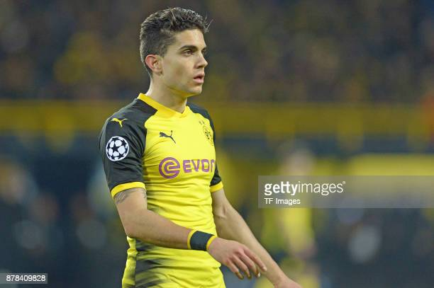 Marc Bartra Aregall of Borussia Dortmund looks on during the UEFA Champions League group H match between Borussia Dortmund and Tottenham Hotspur at...