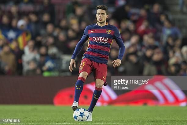 Marc Bartra Aregall of FC Barcelona during the Champions League match between FC Barcelona and AS Roma on November 24 2015 at the Camp Nou stadium in...