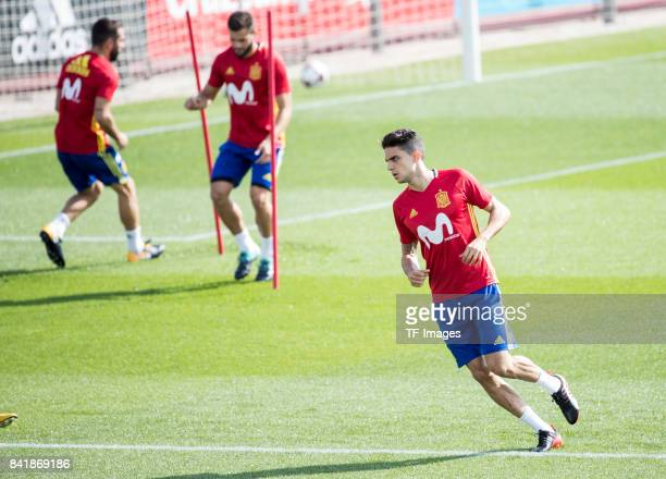 Marc Bartra looks on during a training session on August 29 2017 in Madrid Spain