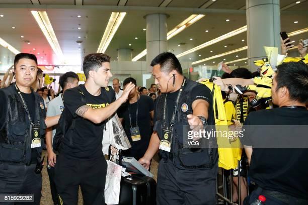 Marc Bartra of Borussia Dortmund arrives at Guangzhou Baiyun International Airport on July 17 2017 in Guangzhou China