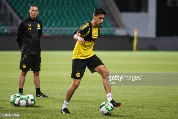 Marc Bartra of Borussia Dortmund attends a training at University Town Sports Centre Stadium ahead of 2017 International Champions Cup China on July...