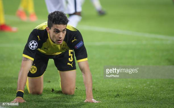 Marc Bartra of Borussia Dortmund during the UEFA Champions League match between Borussia Dortmund and Tottenham Hotspur at Signal Iduna Park on...