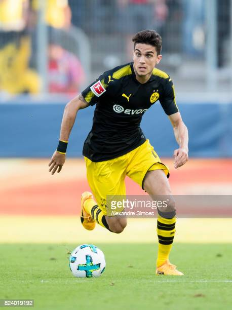 Marc Bartra of Borussia Dortmund in action during a friendly match between Espanyol Barcelona and Borussia Dortmund as part of the training camp on...