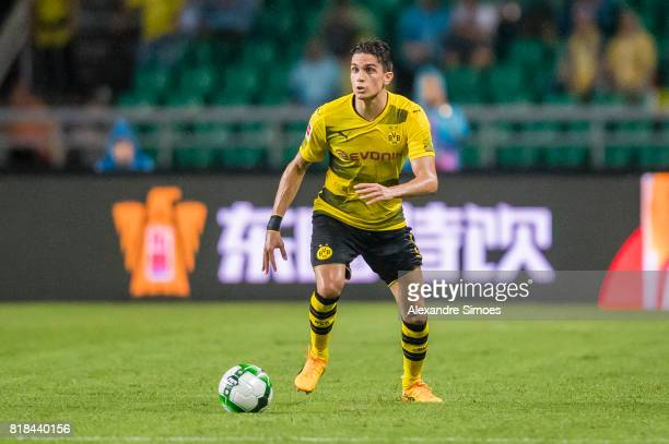 Marc Bartra of Borussia Dortmund in action during a preseason friendly match between AC Milan and Borussia Dortmund on July 18 2017 in Guangzhou China