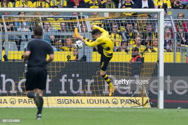 Marc Bartra of Borussia Dortmund in action during the Bundesliga match between Borussia Dortmund and Werder Bremen at Signal Iduna Park on May 20...
