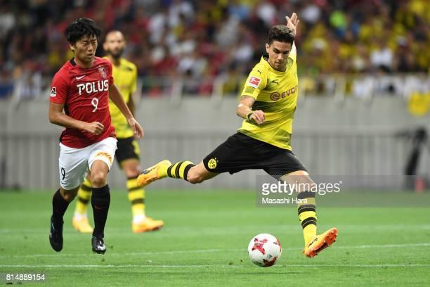 Marc Bartra of Borussia Dortmund in action during the preseason friendly match between Urawa Red Diamonds and Borussia Dortmund at Saitama Stadium on...