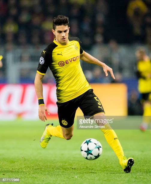 Marc Bartra of Borussia Dortmund in action during the UEFA Champions League match between Borussia Dortmund and Tottenham Hotspur at Signal Iduna...