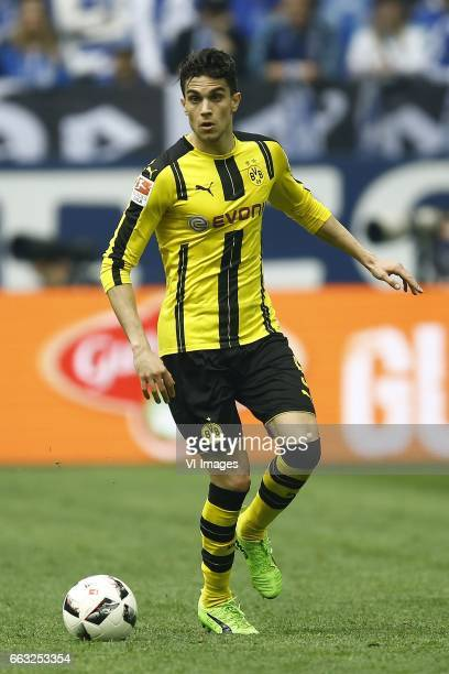 Marc Bartra of Borussia Dortmundduring the Bundesliga match between Schalke 04 and Borussia Dortmund on April 01 2017 at the VeltinsArena in...