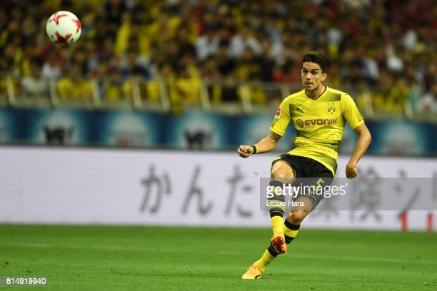 Marc Bartra of Burussia Dortmund in action during the preseason friendly match between Urawa Red Diamonds and Borussia Dortmund at Saitama Stadium on...