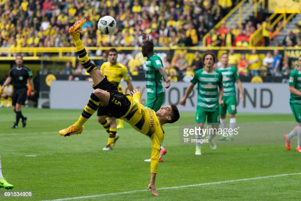 Marc Bartra of Dortmund controls the ball during the Bundesliga match between Borussia Dortmund and Werder Bremen at Signal Iduna Park on May 20 2017...