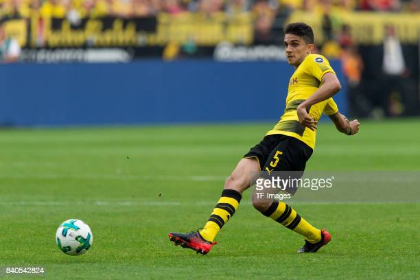 Marc Bartra of Dortmund controls the ball during the Bundesliga match between Borussia Dortmund and Hertha BSC at Signal Iduna Park on August 26 2017...