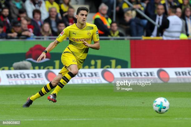 Marc Bartra of Dortmund controls the ball during the Bundesliga match between SportClub Freiburg and Borussia Dortmund at SchwarzwaldStadion on...