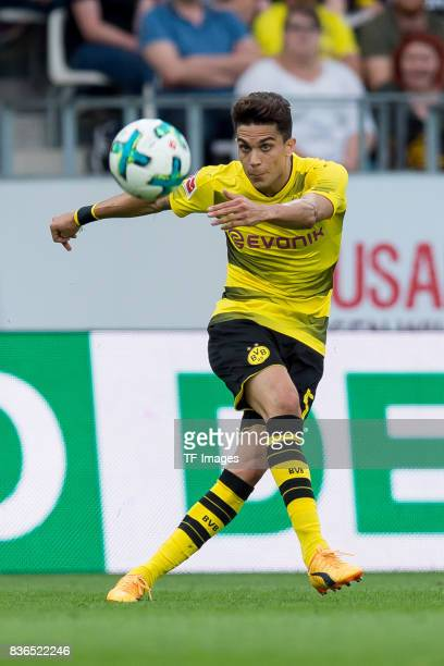 Marc Bartra of Dortmund controls the ball during the preseason friendly match between RotWeiss Essen and Borussia Dortmund at Stadion Essen on July...