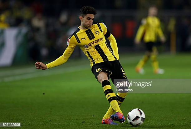 Marc Bartra of Dortmund runs with the ball during the Bundesliga match between Borussia Dortmund and Borussia Moenchengladbach at Signal Iduna Park...