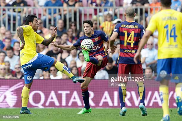 Marc Bartra of FC Barcelona during the Primera Division match between FC Barcelona and Las Palmas on September 26 2015 at Camp Nou stadium in...