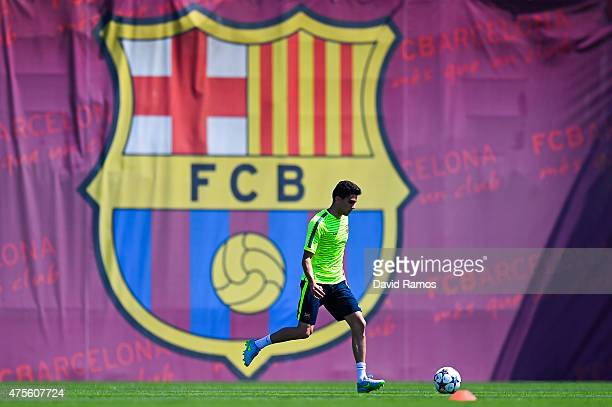 Marc Bartra of FC Barcelona in action during a FC Barcelona open Media Day ahead of their UEFA Champions League Final against Juventus on June 2 2015...