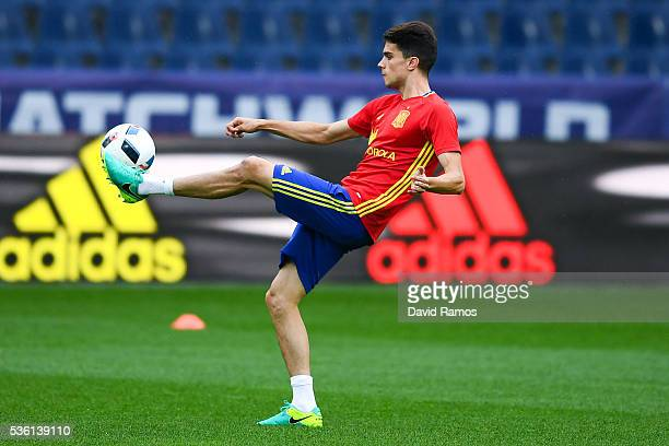 Marc Bartra of Spain in action during a training session at the Red Bull Arena stadium on May 31 2016 in Salzburg Austria