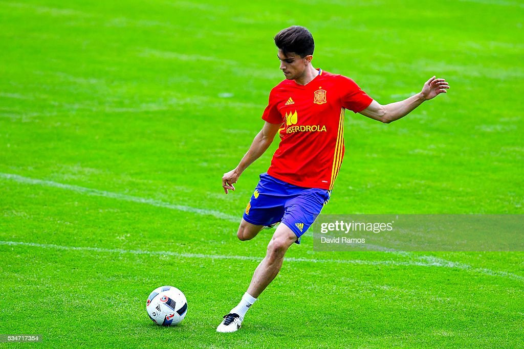 Marc Bartra of Spain in action during a training session on May 27, 2016 in Schruns, Austria.