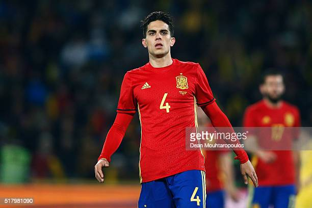 Marc Bartra of Spain looks on during the International Friendly match between Romania and Spain held at the Cluj Arena on March 27 2016 in ClujNapoca...