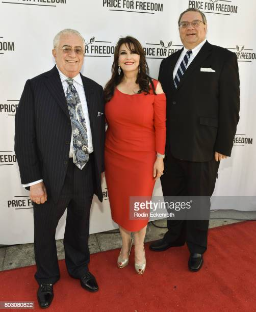 Marc Benhurri Mary Apick and Roger Cooper attend screening of 'Price For Freedom' at Laemmle Music Hall on June 28 2017 in Beverly Hills California