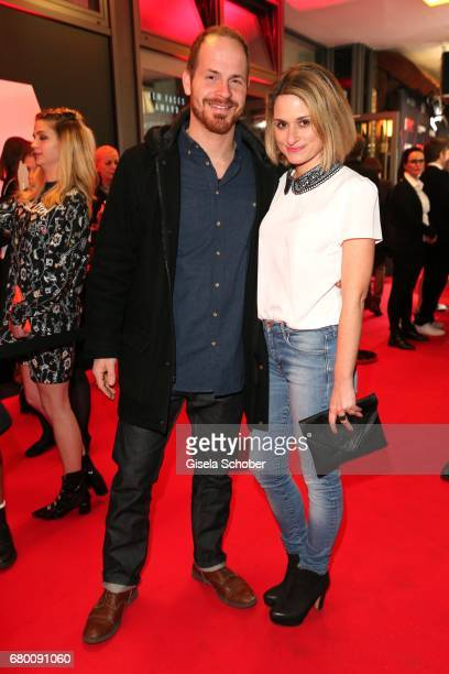 Marc Benjamin Puch Doctors Diary and his partner Julia Becker during the New Faces Award Film at Haus Ungarn on April 27 2017 in Berlin Germany