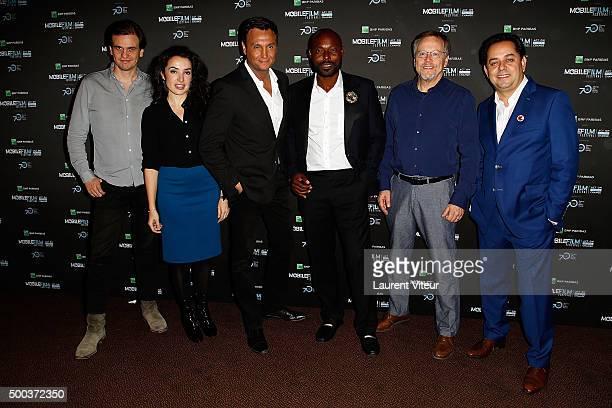 Marc Benoit Creancier Isabelle Vitari guest Jimmy JeanLouis Fernando Meirelles and Bruno Smadja attend '1 mobile 1 minute 1 film' As Part Of Mobile...