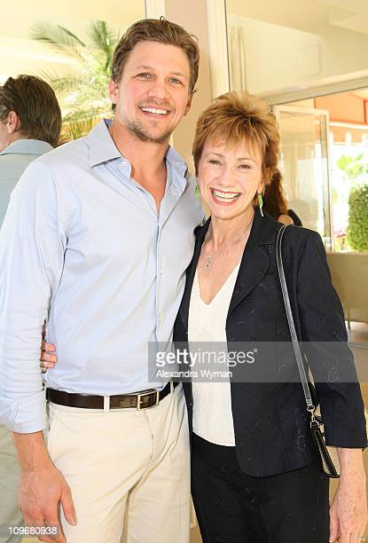 Marc Blucas and Kathy Baker during MaxMara and Women in Film Host Luncheon For Honoree Emily Blunt at Sunset Tower in West Hollywood California...