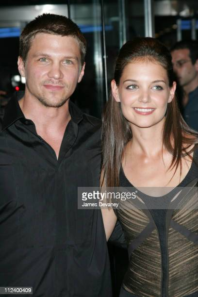Marc Blucas and Katie Holmes during 'First Daughter' New York Premiere Arrivals at Clearview's Chelsea West Theater in New York City New York United...