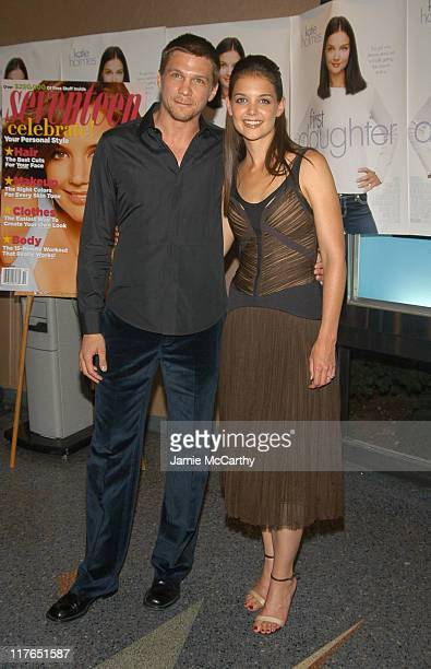 Marc Blucas and Katie Holmes during 'First Daughter' Screening Hosted by Twentieth Century Fox and Seventeen Magazine at Clearview's Chelsea West...