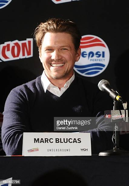 Marc Blucas attends the 'Underground' panel during New York ComicCon 2015 at The Jacob K Javits Convention Center on October 11 2015 in New York City