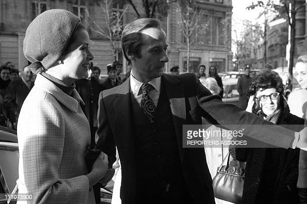 Marc Bohan Princess Grace of Monaco at the inauguration of the 'Baby Dior' shop in Paris France on November 01st 1967