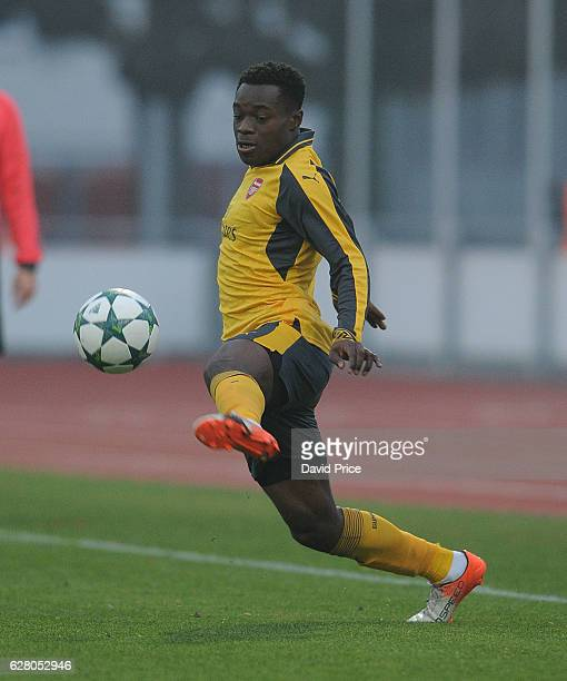Marc Bola of Arsenal during the UEFA Champions League match between FC Basel and Arsenal at Leichtathletik Stadion on December 6 2016 in Basel...
