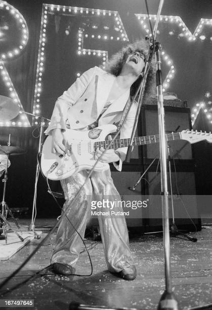 Marc Bolan performing with English glam rock group TRex at the Sundown Edmonton London 22nd December 1972