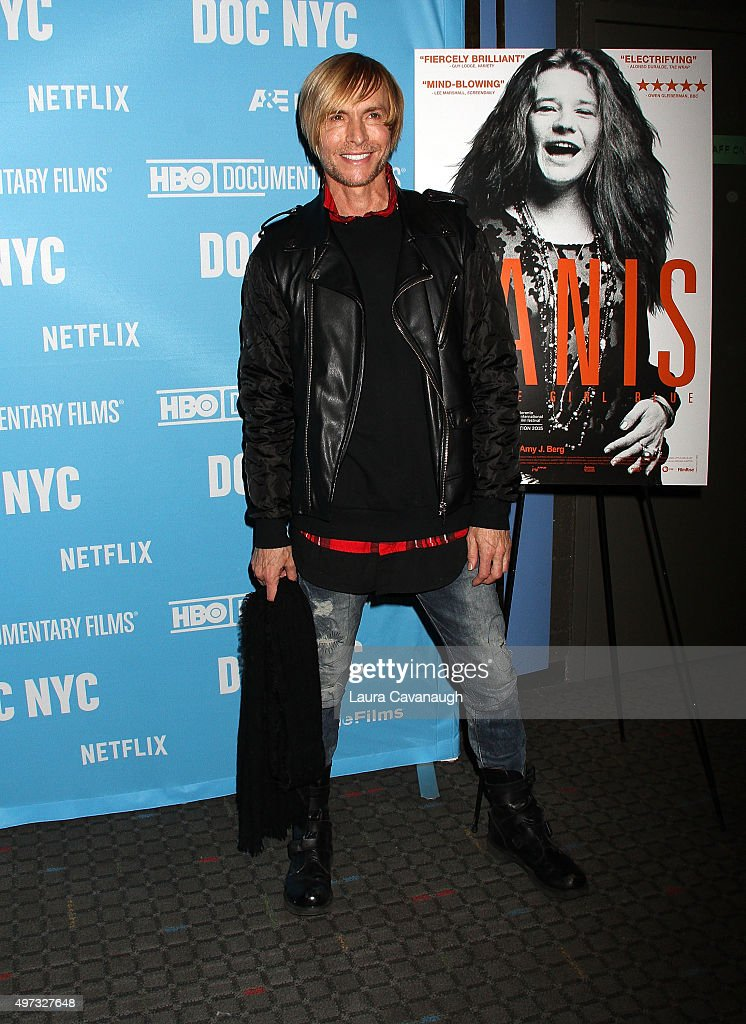 Marc Bouwer attends the 'Janis Little Girl Blue' New York Premiere at SVA Theater on November 15 2015 in New York City