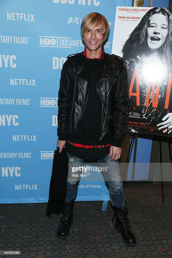 Marc Bouwer attends the New York Premiere of 'Janis Little Girl Blue' at SVA Theater on November 15 2015 in New York City
