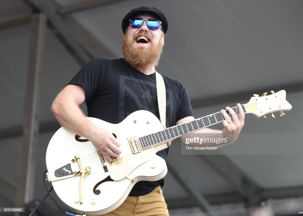 Marc Broussard performs during the 2017 New Orleans Jazz & Heritage Festival at Fair Grounds Race Course on April 29, 2017 in New Orleans, Louisiana.
