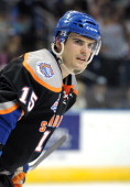 Marc Cantin of the Bridgeport Sound Tigers looks on during an American Hockey League game against the Norfolk Admirals on December 2 2012 at the...