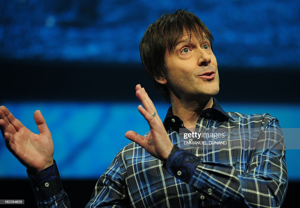 Marc Cerny, lead architect of Sony's PlaySation 4, introduces the PlayStation 4 at a news conference February 20, 2013 in New York.