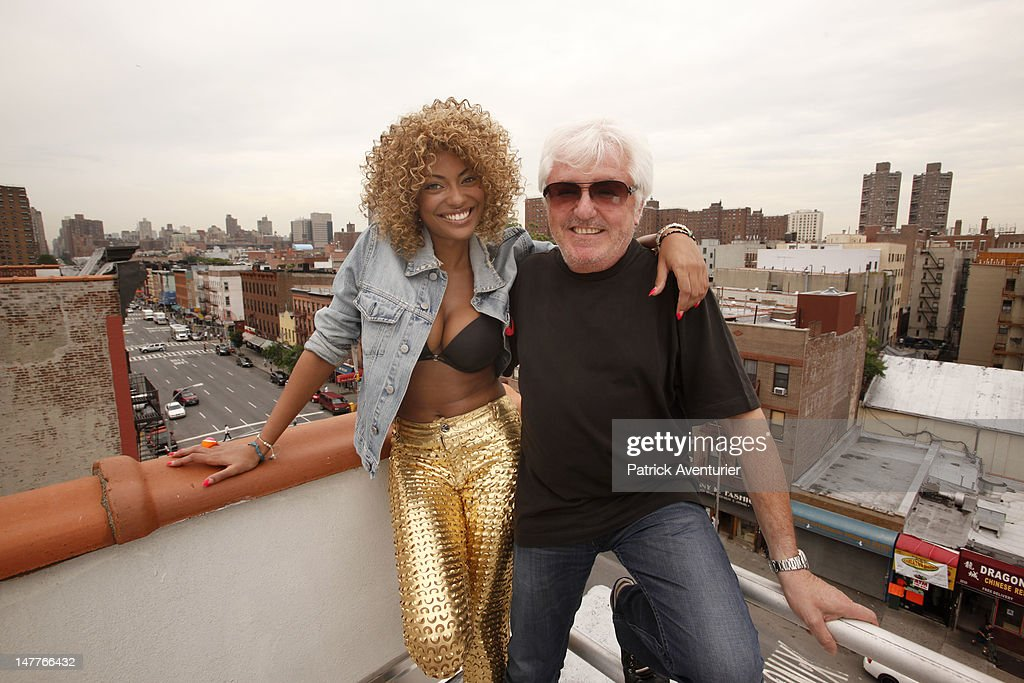 Marc Cerrone and Adjana during the recording of the video on June 1, 2012 in New York City. The single 'Good Times I'm In Love' by disco producer Marc Cerrone, featuring Adjana is released on Jun 21. Cerrone's new album, 'Addict', will be released in September, 2012.