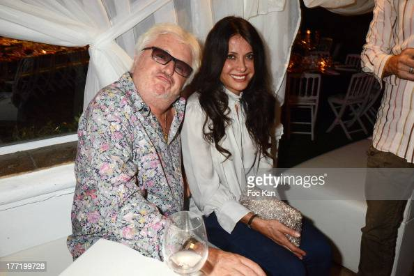 Marc Cerrone and Jill Cerrone attend the Massimo Gargia's Birthday Dinner at Moulins de Ramatuelle on August 21 2013 in Saint Tropez France