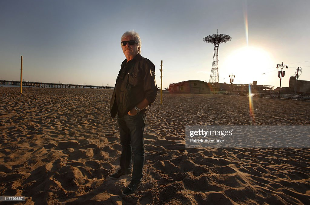 Marc Cerrone during the recording of the video in Coney island on June 1, 2012 in New York City. The single 'Good Times I'm In Love' by disco producer Marc Cerrone, featuring Adjana is released on Jun 21. Cerrone's new album, 'Addict', will be released in September, 2012.