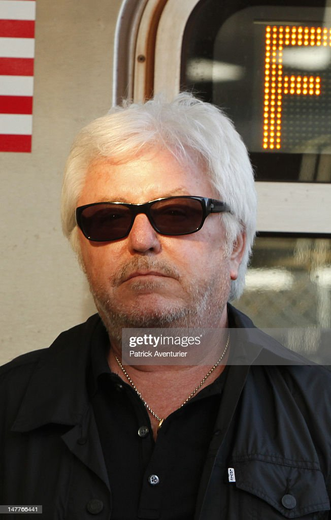 Marc Cerrone in metro during the recording of the video on June 1, 2012 in New York City. The single 'Good Times I'm In Love' by disco producer Marc Cerrone, featuring Adjana is released on Jun 21. Cerrone's new album, 'Addict', will be released in September, 2012.