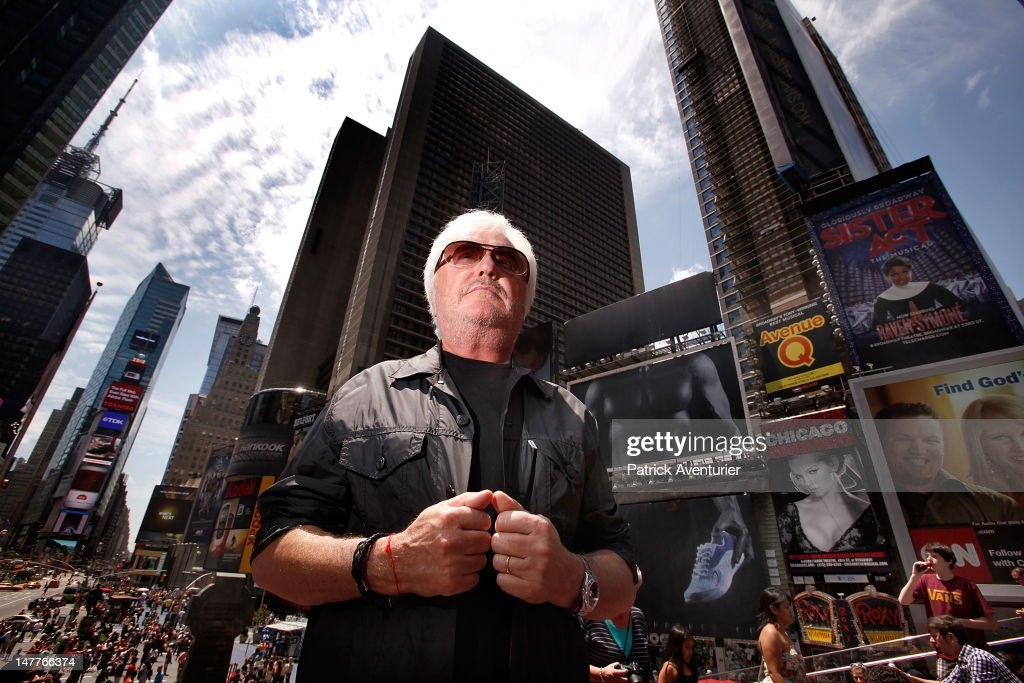 Marc Cerrone in Times Square on June 1, 2012 in New York City. The single 'Good Times I'm In Love' by disco producer Marc Cerrone, featuring Adjana is released on Jun 21. Cerrone's new album, 'Addict', will be released in September, 2012.