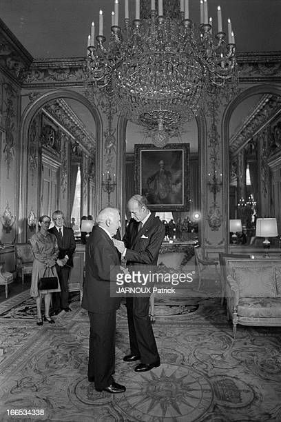 Marc Chagall Receives The Legion Of Honor