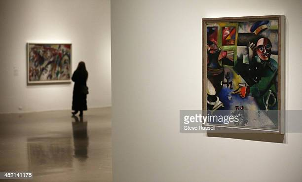 TORONTO ON NOVEMBER 26 Marc Chagall's 'The Soldier Drinks' The AGO hosts 'The Great Upheaval' a collection of art from the Guggenheim collection from...