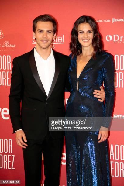 Marc Clotet and Melina Matthews attend the 'El Jugador de Ajedrez' premiere at Gran Via cinema on April 25 2017 in Madrid Spain