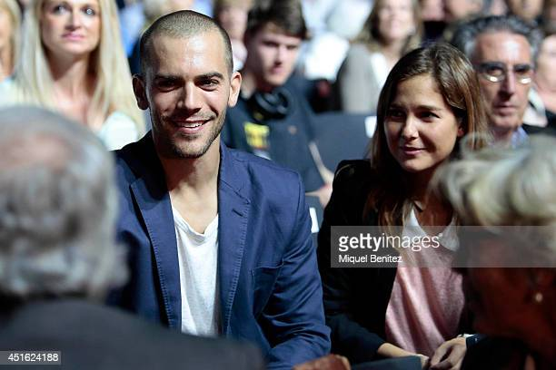 Marc Clotet and Natalia Sanchez attend the Kevin Costner's concert during the second 'Festival Jardins de Pedralbes' on July 2 2014 in Barcelona Spain