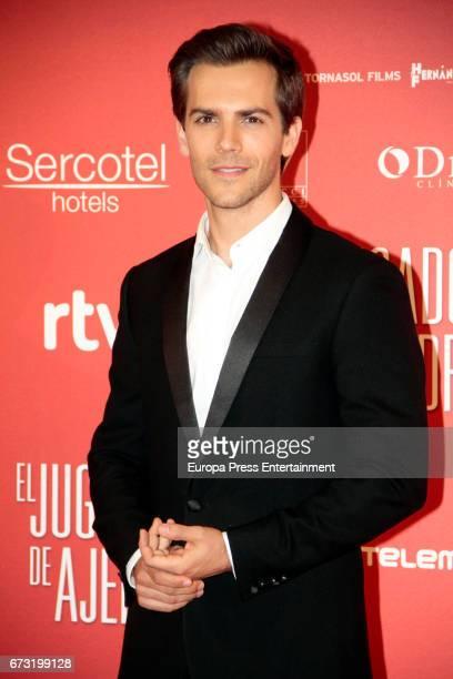 Marc Clotet attends the 'El Jugador de Ajedrez' premiere at Gran Via cinema on April 25 2017 in Madrid Spain