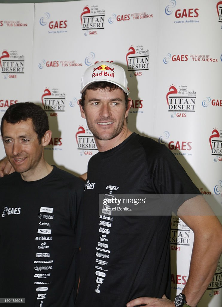 <a gi-track='captionPersonalityLinkClicked' href=/galleries/search?phrase=Marc+Coma&family=editorial&specificpeople=767761 ng-click='$event.stopPropagation()'>Marc Coma</a> attends the 'Milenio Titan Desert 2013' by Gaes on February 1, 2013 in Barcelona, Spain.