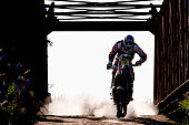 Marc Coma of Spain and riding the for the Red Bull KTM Factory Team competes during day 1 of the Dakar Rallly on January 4 2015 between Buenos Aires...